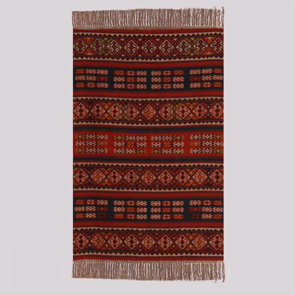 Tapis Kilim en soie naturelle faits main de Tresorient