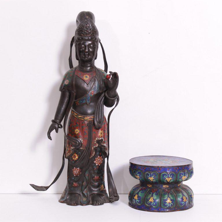 Cloisonné déesse de Tresorient