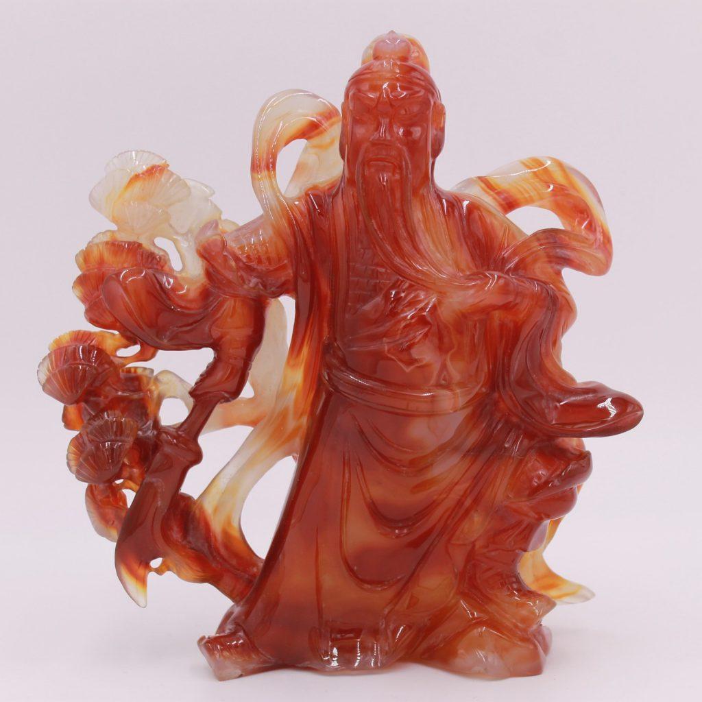 Sculpture en agate cornaline