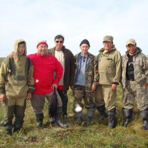 Membre de l'équipe d'expédition du mammouth Yuka en Sibérie, composée de scientifiques et du chef du peuple des Youkaghir.
