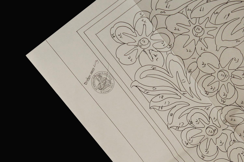 Certification de dessins tapis Aubusson tresorient